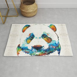 Colorful Panda Bear Art By Sharon Cummings Rug
