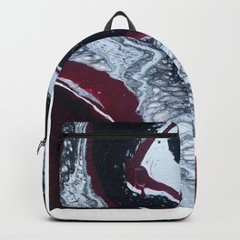 Alabama or South Carolina Paint Pour (Garnett, Black, Maroon, White) Backpack