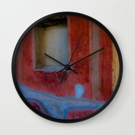 Pompeian fresco Wall Clock