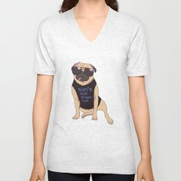 Sun's Out Pugs Out Unisex V-Neck