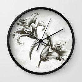 Fleur de lys Wall Clock