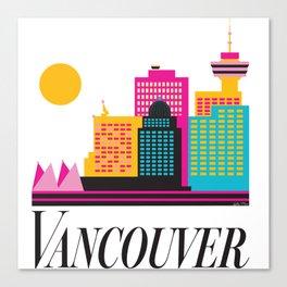 Vancouver Coal Harbour Canvas Print