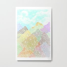 Multicolour Magic Mountains Metal Print