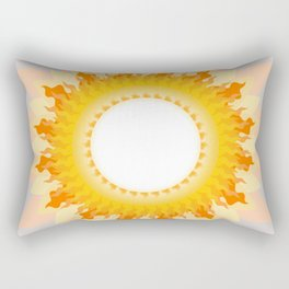 The Sun in the Fog Rectangular Pillow