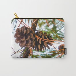 Pine Cone on a Pine Tree Carry-All Pouch