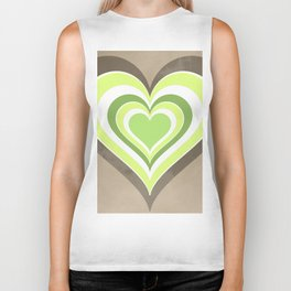 Heart lightgreen Biker Tank