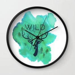 Wild deer Wall Clock