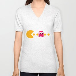 Pacman - The Ghosts - Pinky Unisex V-Neck