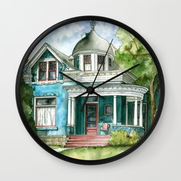 The House with Red Trim Wall Clock