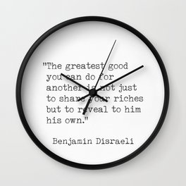 Disraeli quotes Wall Clock