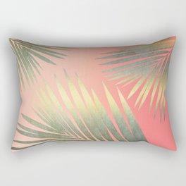 Shining Palm Fronds Rectangular Pillow