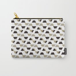 Black Gray Triangle Pattern. Geometric Pattern. Art Deco Carry-All Pouch