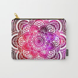 Galaxy Mandala Red Fuchsia Purple Pink Carry-All Pouch