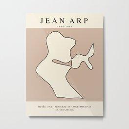 Modern poster - Jean Hans Arp - Exposition 5. Metal Print