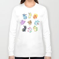 umbreon Long Sleeve T-shirts featuring Colorful Evolutions by Kaydee Elaine - Odd Kitten Art