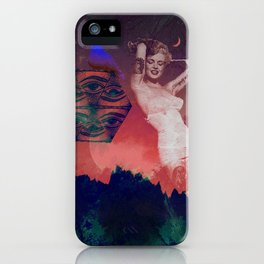 False Colored Eyes iPhone Case