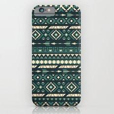 Ethnic blue pattern Slim Case iPhone 6s