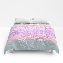 Unicorn Girls Glitter #8 #shiny #pastel #decor #art #society6 Comforters