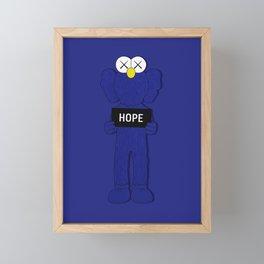 Kaws Hope Poster Framed Mini Art Print