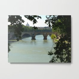Tiber through the Trees Metal Print