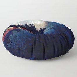 Autumn Moon Reflection Floor Pillow