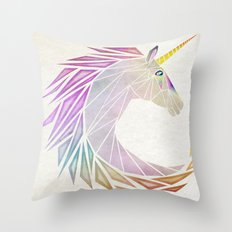 unicorn cercle Throw Pillow