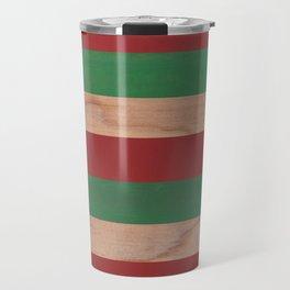 Red, Green & Wood II Travel Mug