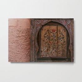 Moroccan Door   Photo print Morocco design on door Marrakech Metal Print