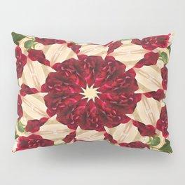 Old Red Rose Kaleidoscope 9 Pillow Sham