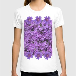 WHITE  LILAC PURPLE SPRING PHLOX FLOWERS GARDEN T-shirt