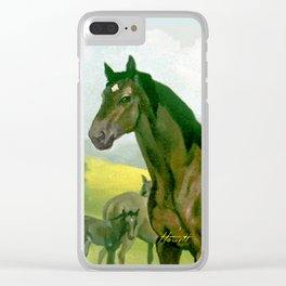 Sound Reason (CAN) - Thoroughbred Stallion Clear iPhone Case
