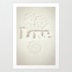 Love & Doilies Art Print