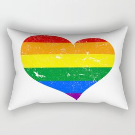 LGBT - Lesbian Gay Bisexual Transgender Heart Support Homosexual Rectangular Pillow