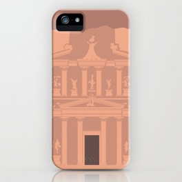 The Treasury at Petra Block Type Travel Poster iPhone Case