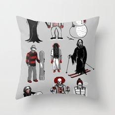 Horror lives winter Throw Pillow