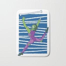 Zombie Baton Twirling Gymnastics Halloween Bath Mat