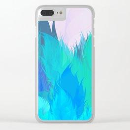 After The Rain Aqua Blue Clear iPhone Case