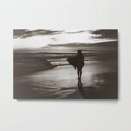 Little Surfer Metal Print