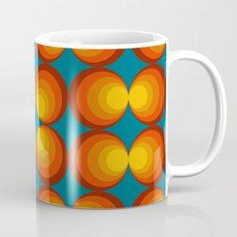 70s Circle Design - Teal Background Coffee Mug