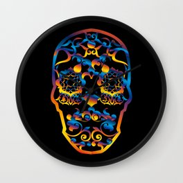 00  - COPERNICUS BLACK SKULL Wall Clock