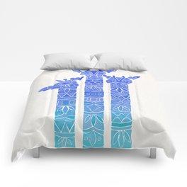 Giraffes – Blue Ombré Comforters