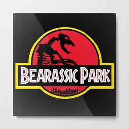 Bearassic Park Metal Print