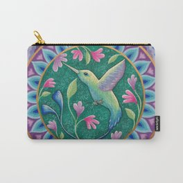 Hummingbird Mandala Carry-All Pouch