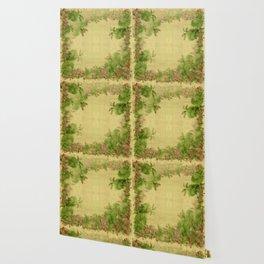 """Pink & green plants"" Wallpaper"