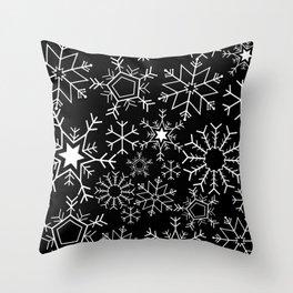 Invert snowflake pattern Throw Pillow