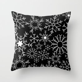 Invert snowflake pattern Throw Pillow