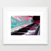 music notes Framed Art Prints featuring Notes by Rene Amado
