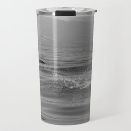 Black and white dolphin race in the ocean Travel Mug