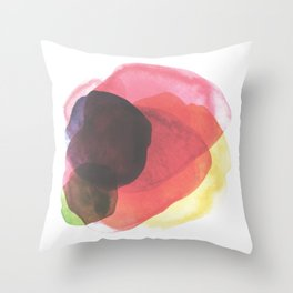 Rainbow Watercolor Immersion Throw Pillow