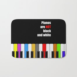 colorful piano - not black and white oil poster Bath Mat